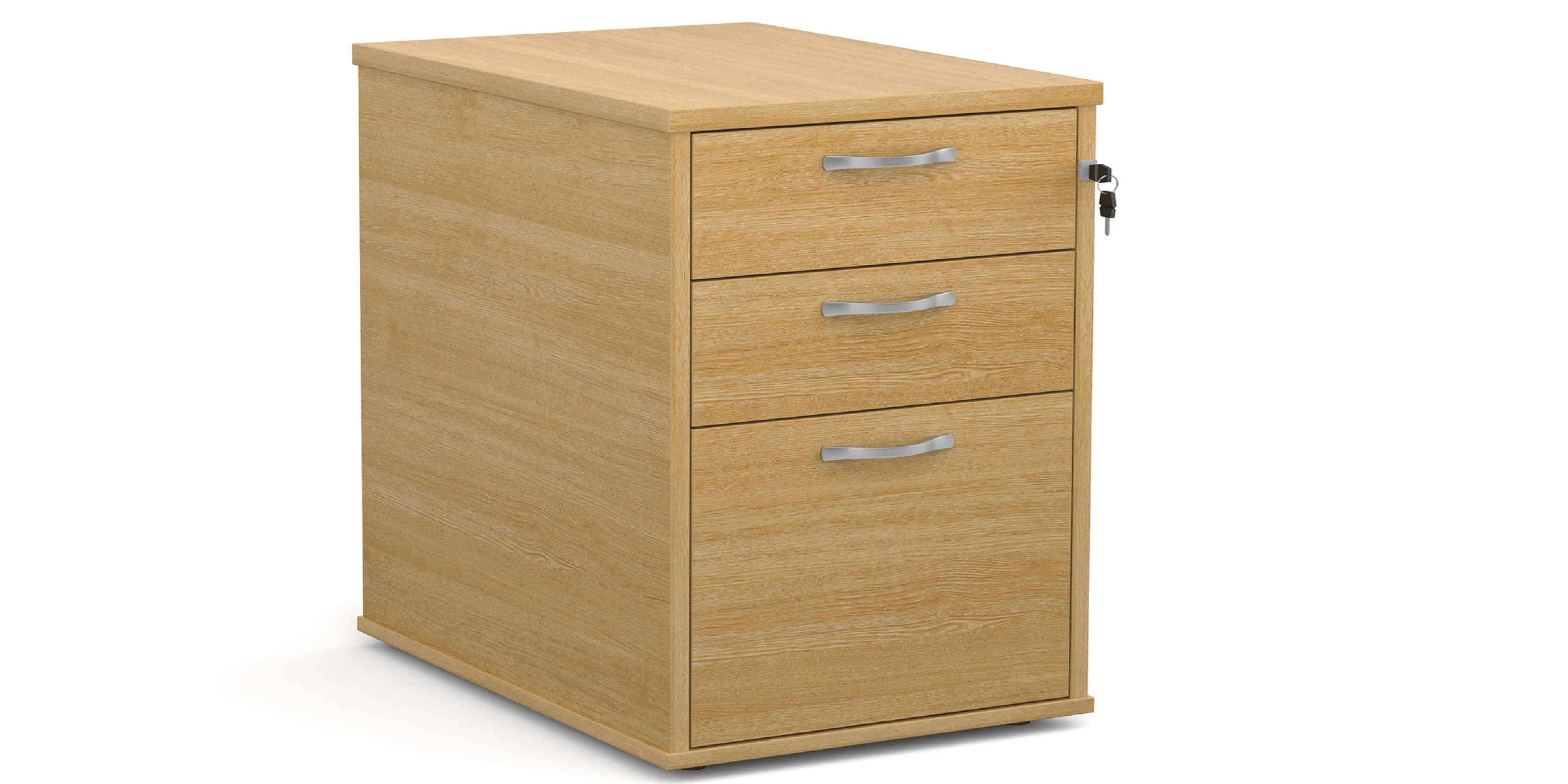 Primary Storage Desk High Pedestal 3 Drawer Image